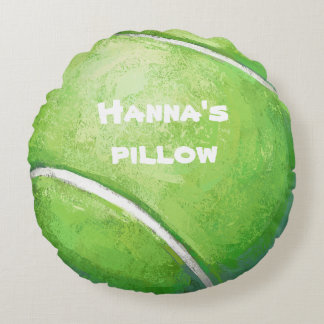 Tennis Ball Personalized Pet Bed Pillow Round Pillow