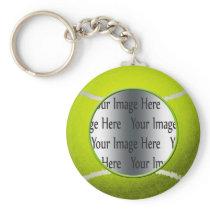 tennis ball photo keychain