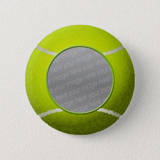 Tennis ball photo pinback button