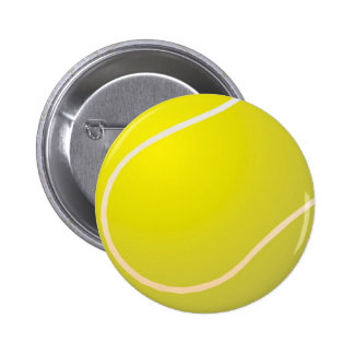 Tennis ball pinback button