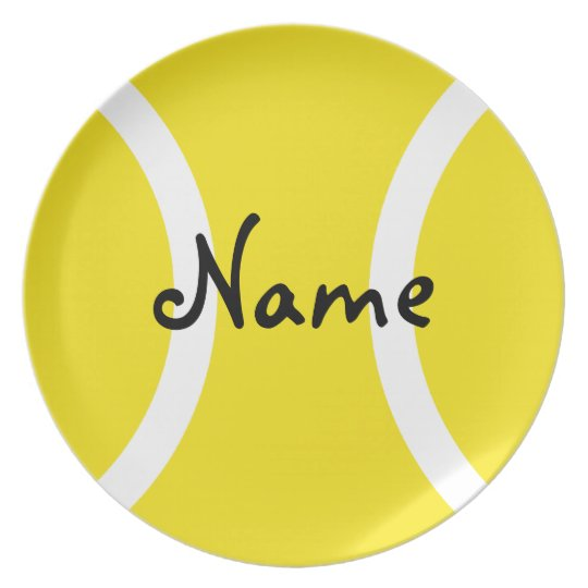 Tennis ball plate - Unique gift with your name