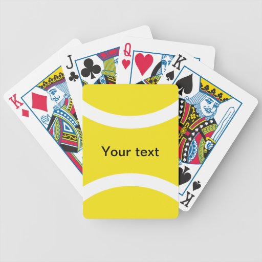 Tennis ball playing cards
