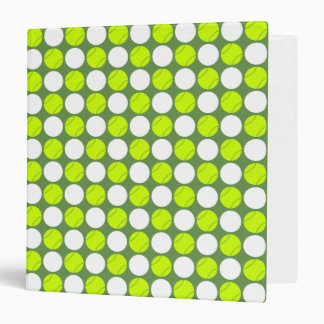 Tennis Ball Polka Dot Pattern Binder