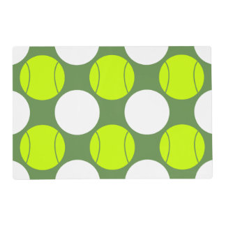 Tennis Ball Polka Dot Pattern Placemat