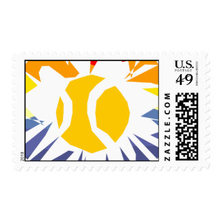 Tennis Ball Postage Stamp