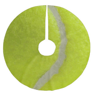 Tennis Ball Print Pattern Background Brushed Polyester Tree Skirt