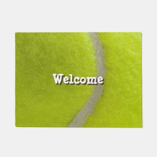 Tennis Ball Print Pattern Background Doormat