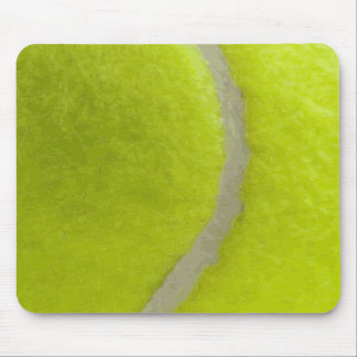 Tennis Ball Print Pattern Background Mouse Pad