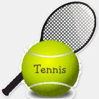 Tennis Ball Racquet Design Contour Sticker