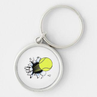 tennis ball ripping through key chain