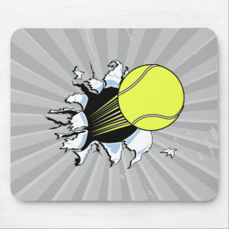 tennis ball ripping through mouse pad
