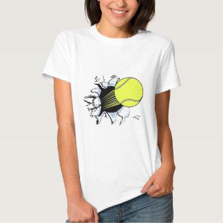 tennis ball ripping through t shirt