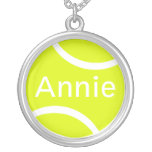 Tennis Ball Round Pendant Necklace
