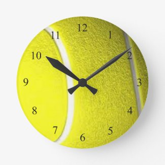 Tennis Ball Round Sport Wall Clock