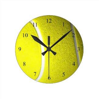 Tennis Ball Round Sport Wall Clock