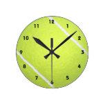 Tennis Ball Round Wallclocks