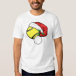 Tennis Ball Santa Cap T-Shirt