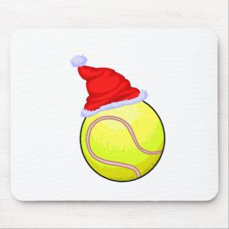 Tennis Ball (Santa Hat) Mouse Pad