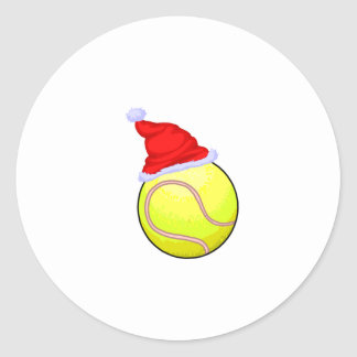 Tennis Ball (Santa Hat) Stickers
