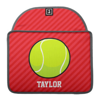 Tennis Ball; Scarlet Red Stripes Sleeve For MacBooks