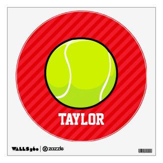 Tennis Ball; Scarlet Red Stripes Wall Decor