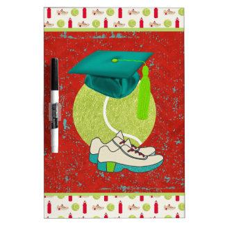 Tennis Ball, Shoes, Graduation Cap, Water Bottle Dry Erase Board