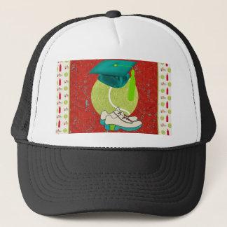 Tennis Ball, Shoes, Graduation Cap, Water Bottle Trucker Hat