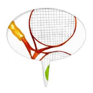 Tennis Ball Sketch2 Cake Topper
