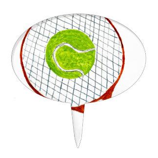 Tennis Ball Sketch3 Cake Topper