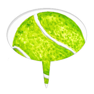 Tennis Ball Sketch4 Cake Topper