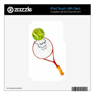 Tennis Ball Sketch Decal For iPod Touch 4G