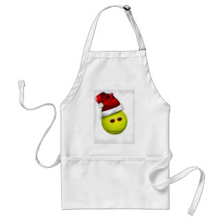 Tennis ball smiles in Christmas Adult Apron