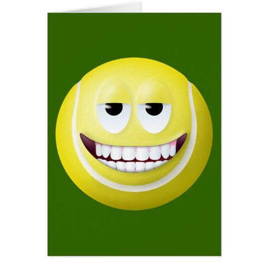 Tennis Ball Smiley Face 2 Card