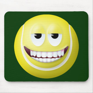Tennis Ball Smiley Face 2 Mouse Pad