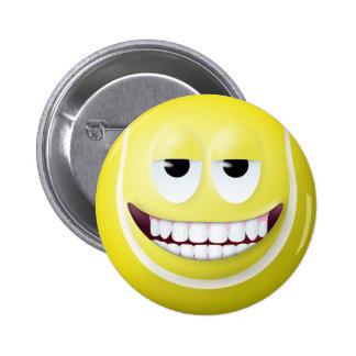 Tennis Ball Smiley Face 2 Pinback Button