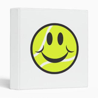 tennis ball smiley face binder