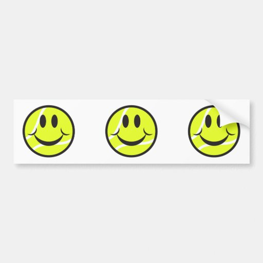 tennis ball smiley face car bumper sticker