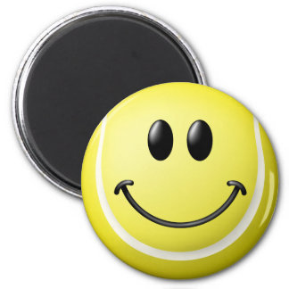 Tennis Ball Smiley Face 2 Inch Round Magnet