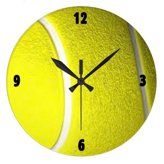 Tennis Ball Sport Four Digit Wall Clocks