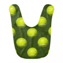 Tennis Ball Sports Baby Bib