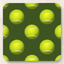 Tennis Ball Sports Beverage Coaster