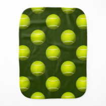 Tennis Ball Sports Burp Cloth