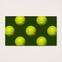 Tennis Ball Sports Business Card