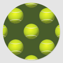 Tennis Ball Sports Classic Round Sticker
