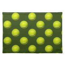 Tennis Ball Sports Cloth Placemat