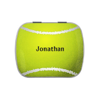 Tennis Ball Sports Design Party Favor Candy Jar Jelly Belly Candy Tins