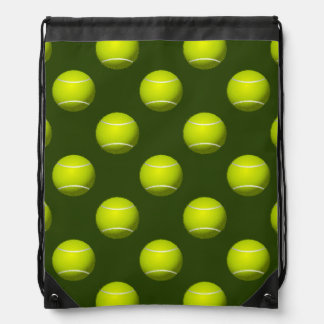 Tennis Ball Sports Drawstring Bag