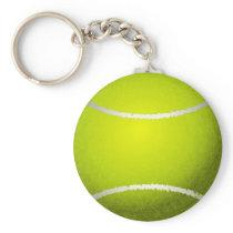 Tennis Ball Sports Keychain