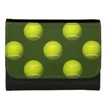 Tennis Ball Sports Leather Wallet For Women