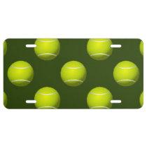 Tennis Ball Sports License Plate
